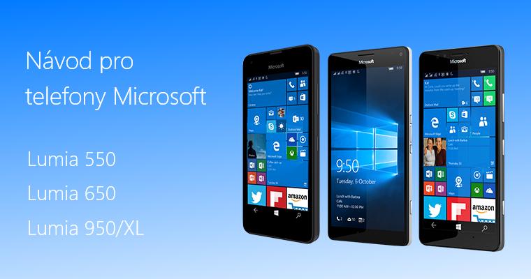 Návod pro telefony Microsoft Lumia 550 15e1944e743